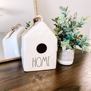 NWT Rae Dunn Home White Ceramic Bird House